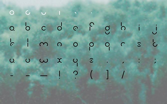 olive typeface | Aaron MacDonald Design