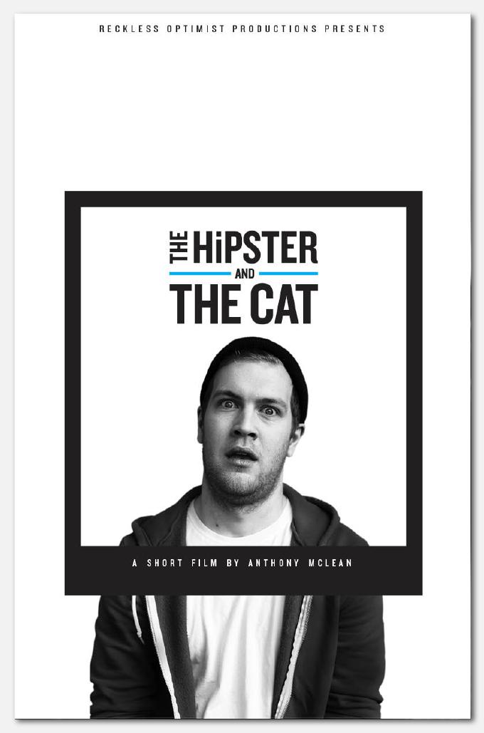 Hipster Poster Design Hipster Cat 02 Poster